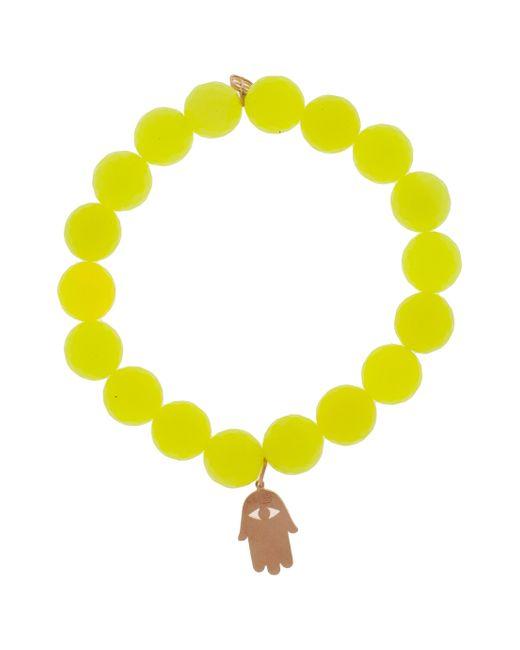 Sydney Evan | Yellow Hamsa Charm Bracelet | Lyst