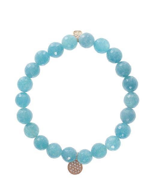 Sydney Evan | Blue Quartz Disc Bracelet | Lyst