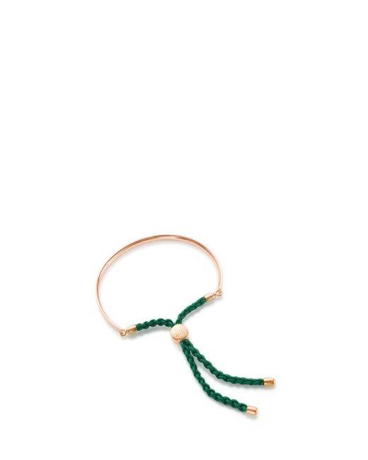 Monica Vinader | Pink Fiji 18ct Rose Gold-plated Friendship Bracelet | Lyst