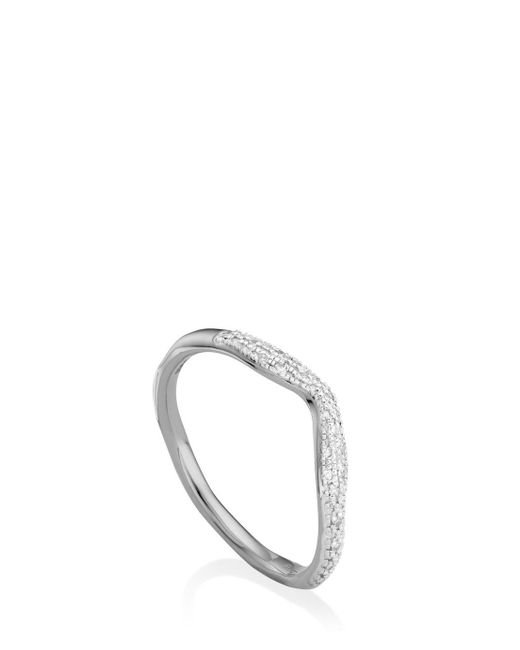 Monica Vinader | Metallic Riva Diamond Wave Ring | Lyst