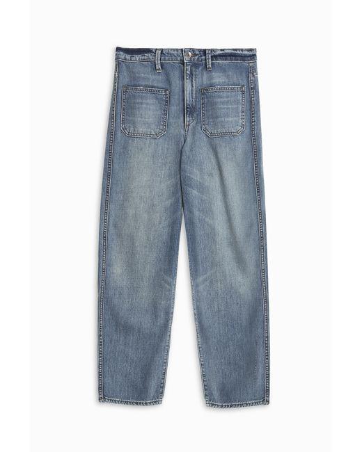 Helmut Lang | Blue Stone Washed Boyfriend Jeans | Lyst