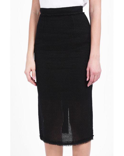 Basket Weaving Supplies Nyc : Roland mouret arreton basket weave skirt in black save