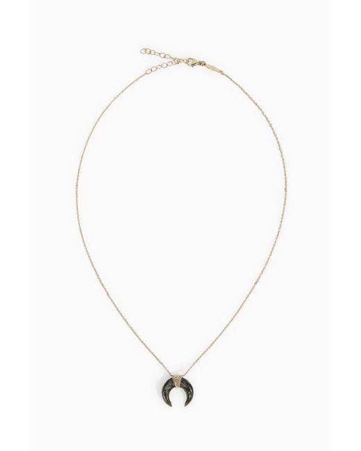 Jacquie Aiche | Metallic Mini Abalone Diamond Necklace | Lyst