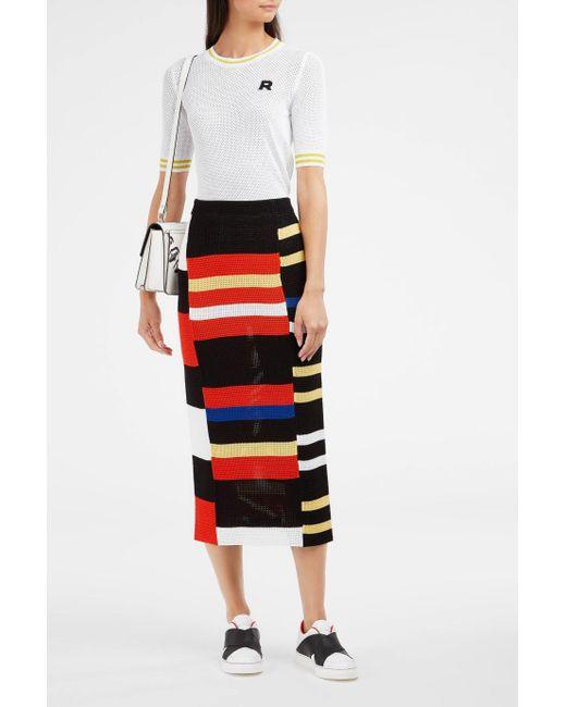 Proenza Schouler | Red Block Knit Pencil Skirt | Lyst