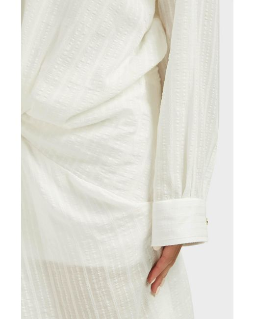 f65ce4986c Jacquemus Women s Alassio Gathered-knot Dress - Off White in White ...