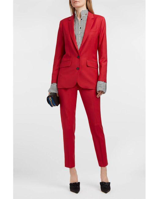 Paul & Joe - Solveig Wool-blend Blazer, Size Fr34, Women, Red - Lyst