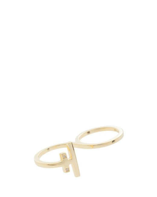 Maria Black   Metallic Diamond Wrap Ring   Lyst