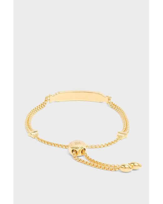 Monica Vinader | Metallic Baja Deco Id Bracelet | Lyst