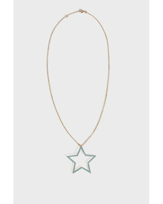 Rosa De La Cruz - Metallic Star Pendant Necklace, Size Os, Women, Y Gold - Lyst