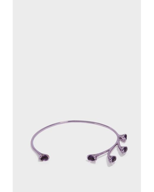 Fernando Jorge - Metallic Sprouting Lilac-coated 18-karat Gold Diamond And Amethyst Bracelet - Lyst