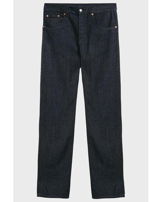 Maison Kitsuné - Blue Parisien Jeans, Size 31, Men, Navy for Men - Lyst