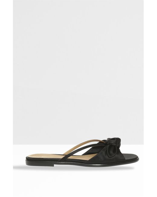 The Row - Black April Bow Sandals - Lyst