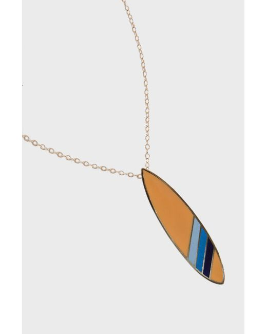Tara Hirshberg - Multicolor Surfboard Pendant, Size Os, Women, Orange - Lyst