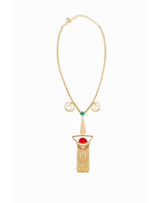 Missoni | Metallic Gold-tone Face Necklace | Lyst