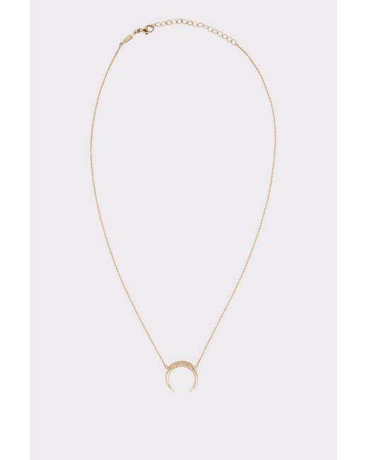 Jacquie Aiche | Metallic Partial Pavé Crescent Necklace | Lyst