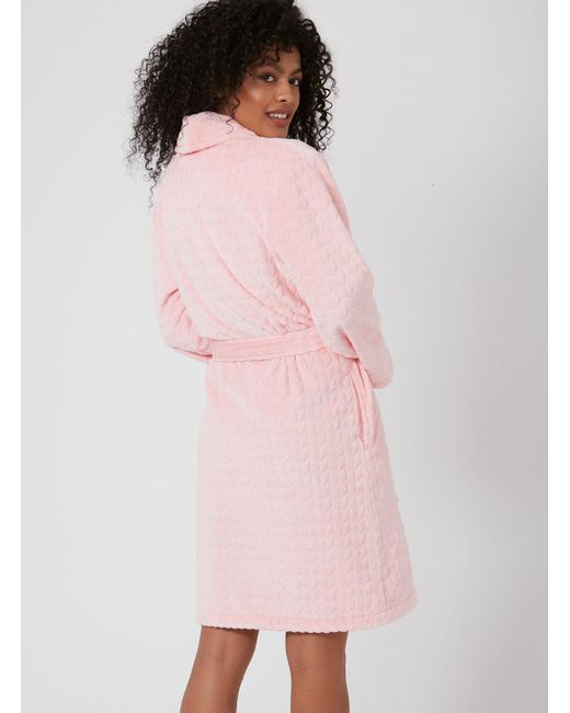 157672a19f ... Boux Avenue - Pink Clara Dressing Gown - Lyst