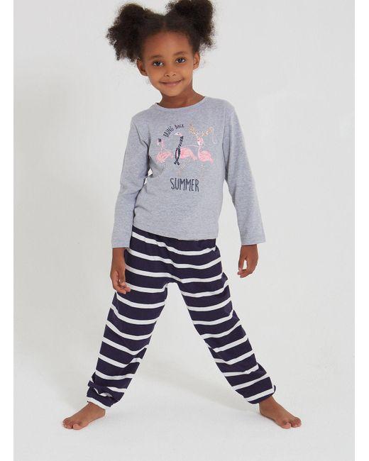 6ff9118398 Boux Avenue - Blue Girls Winter Flamingo Pyjama Set - Lyst ...