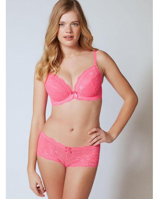 Boux Avenue - Pink Chloe Lace Shorts - Lyst
