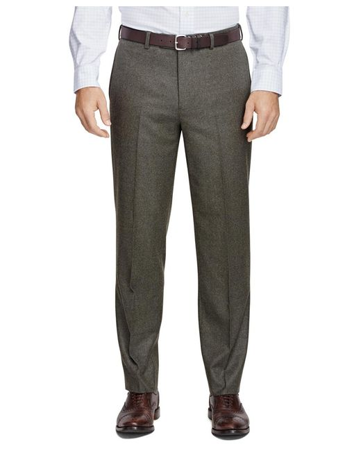 Brooks Brothers - Green Fitzgerald Fit Flannel Trousers for Men - Lyst