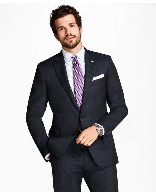 Brooks Brothers | Blue Regent Fit Tic Alternating Stripe 1818 Suit for Men | Lyst