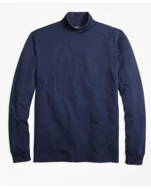 Brooks Brothers | Blue Supima® Cotton Turtleneck for Men | Lyst