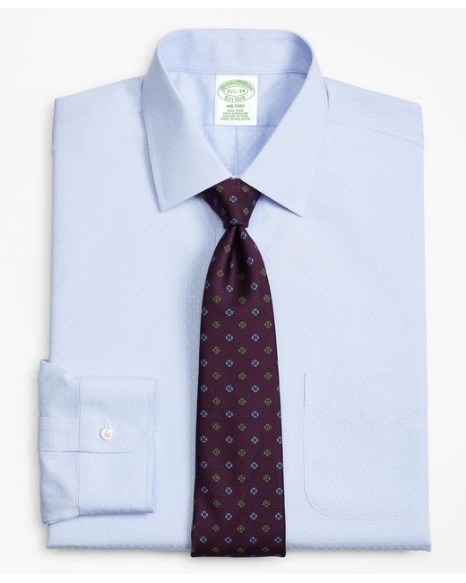 Brooks Brothers - Blue Milano Slim-fit Dress Shirt, Non-iron Dobby Stripe for Men - Lyst