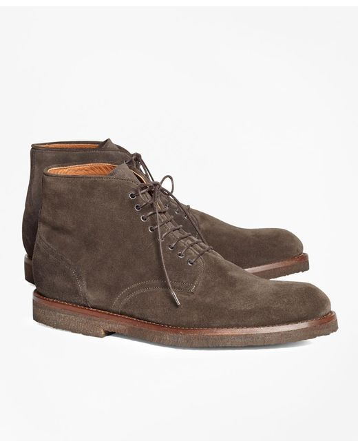 Brooks Brothers - Brown Suede Boots for Men - Lyst