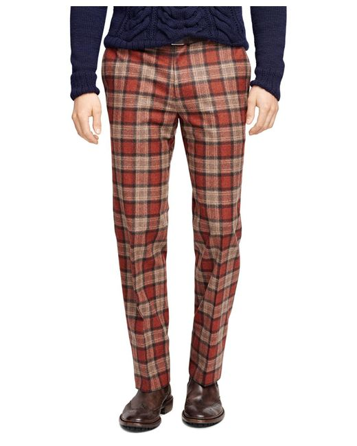 Brooks Brothers | Red Fitzgerald Fit Tartan Trousers for Men | Lyst