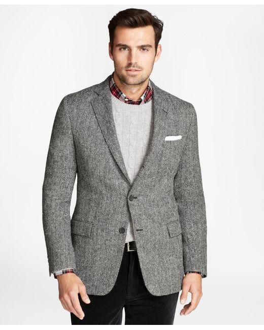 Brooks Brothers | Gray Regent Fit Brookstweed Herringbone Sport Coat for Men | Lyst