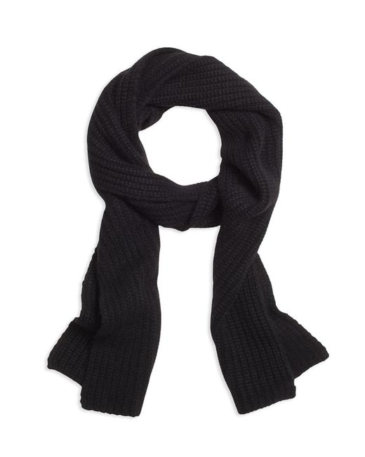 Brooks Brothers - Black Ribbed Cashmere Scarf for Men - Lyst