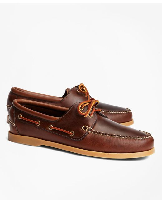 Brooks Brothers | Brown Leather Boat Shoes for Men | Lyst