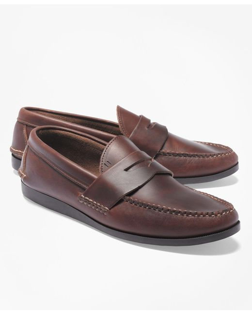 Brooks Brothers | Brown Rancourt & Co Casual Loafers for Men | Lyst
