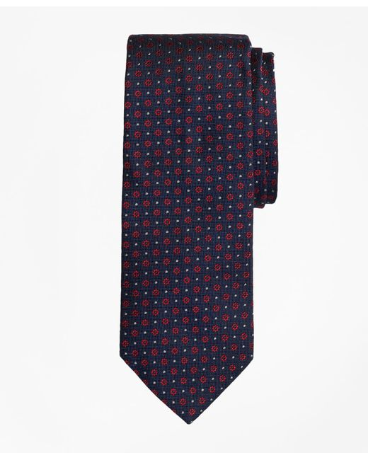 Brooks Brothers - Blue Flower And Dot Tie for Men - Lyst