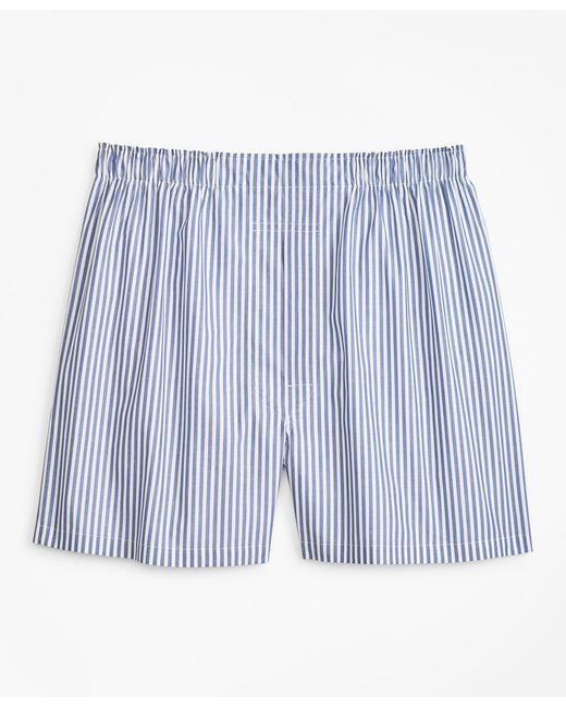 Brooks Brothers - Blue Traditional Fit Bold Stripe Boxers for Men - Lyst