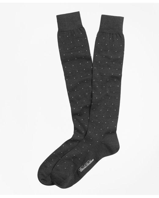 Brooks Brothers   Gray Merino Wool Big Dot Over-the-calf Dress Socks for Men   Lyst