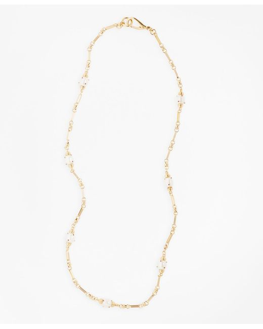 Brooks Brothers - Metallic Gem-studded Pearl Station Necklace - Lyst