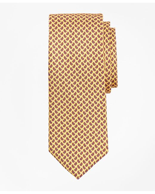 Brooks Brothers | Yellow Micro-pine Print Tie for Men | Lyst