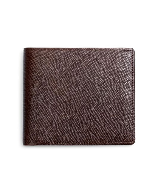 Brooks Brothers - Brown Saffiano Leather Wallet for Men - Lyst