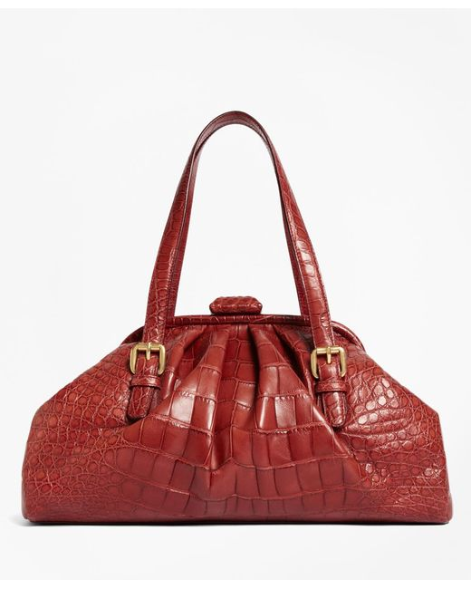 Brooks Brothers - Red Alligator Soft Frame Bag - Lyst
