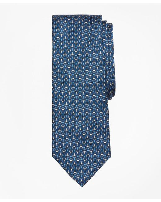 Brooks Brothers - Blue Link Print Tie for Men - Lyst