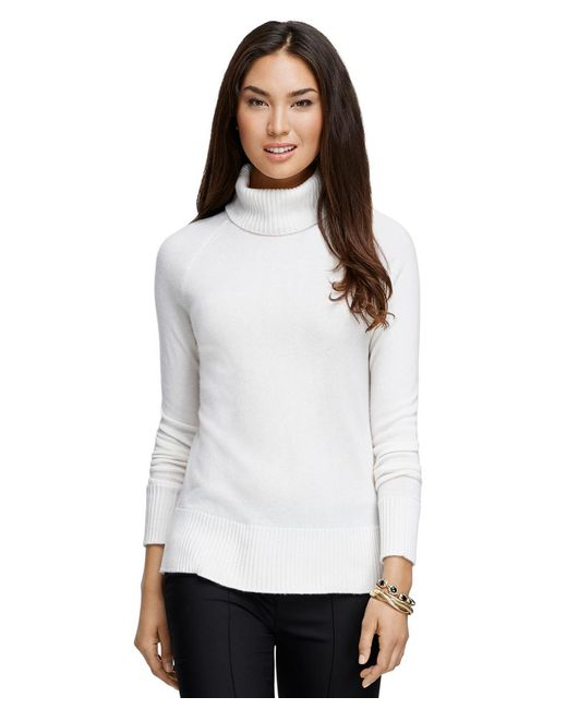 Brooks Brothers - White Cashmere Turtleneck - Lyst