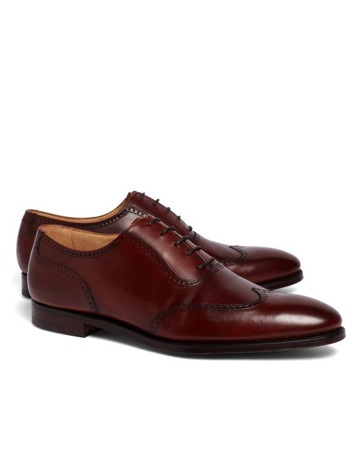 Brooks Brothers - Brown Peal & Co.® U-throat Wingtips for Men - Lyst