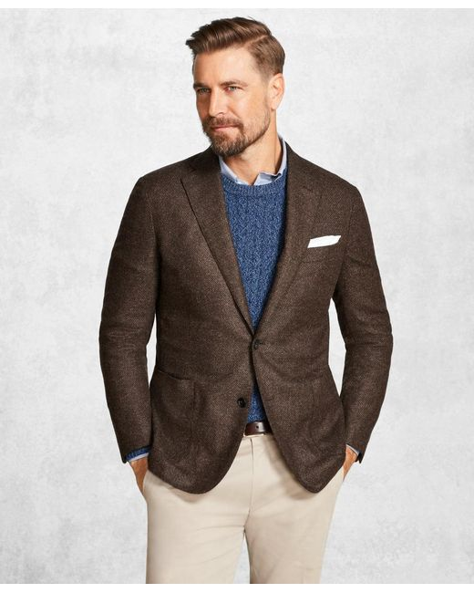 Brooks Brothers | Golden Fleece® Brown Textured Solid Sport Coat for Men | Lyst