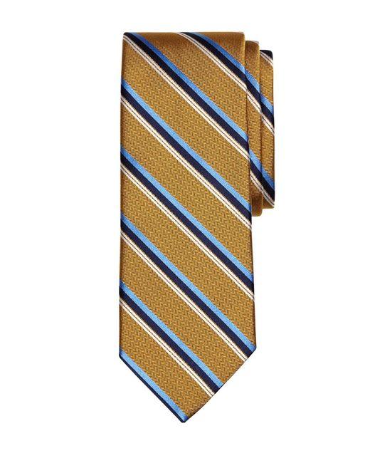 Brooks Brothers | Metallic Herringbone Sidewheeler Stripe Tie for Men | Lyst