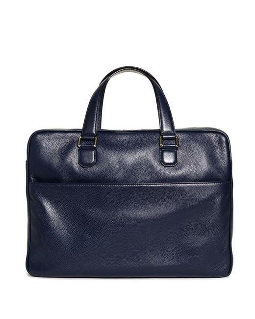 Brooks Brothers - Blue Deerskin Briefcase for Men - Lyst