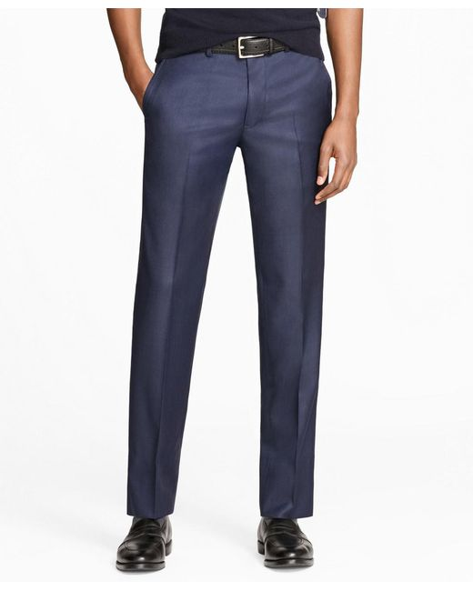 Brooks Brothers | Blue Milano Fit Stretch Wool Trousers for Men | Lyst