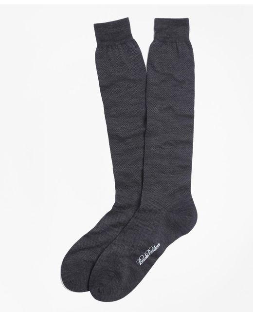 Brooks Brothers | Gray Merino Wool Mini Dot Over-the-calf Socks for Men | Lyst