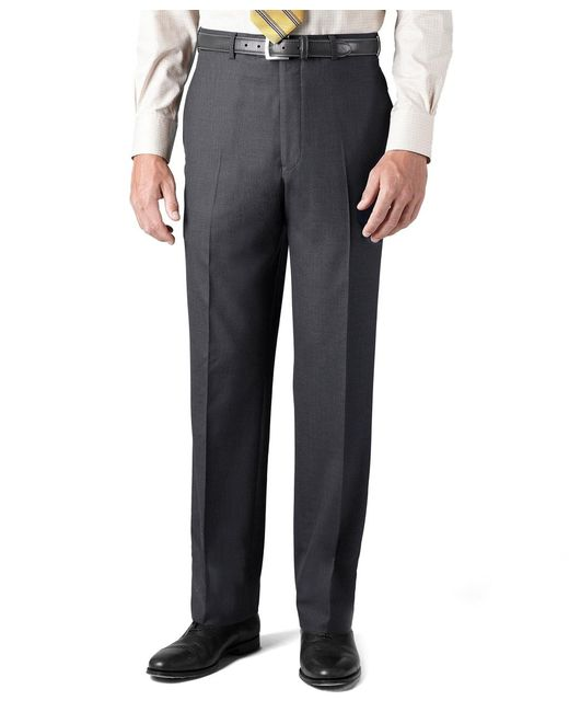 Brooks Brothers | Gray Country Club Saxxon Wool Madison Fit Plain-front Trousers for Men | Lyst