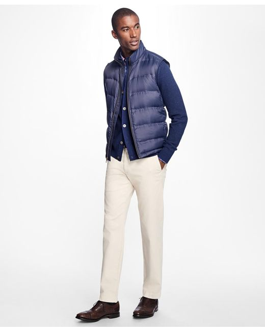 Brooks Brothers   Blue Lightweight Channel Quilted Down Vest for Men   Lyst