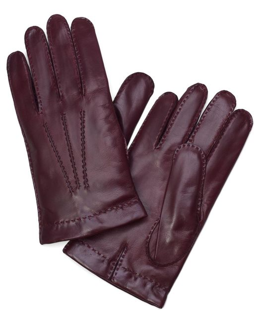 Brooks Brothers | Purple Lambskin Cashmere Lined Gloves for Men | Lyst